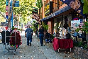 The Alameda, San Jose - The Alameda's tree-lined shopping street.