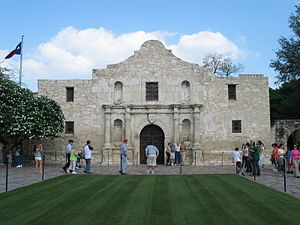 History of San Antonio - The Alamo as it appears today.
