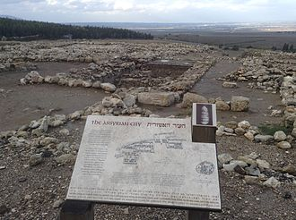Tel Megiddo - The Assyrian phase, plan and ruins