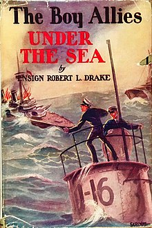 Colour photograph of the dust jacket illustration for The Boy Allies Under the Sea