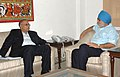 The Chief Minister of Goa, Shri Digambar Kamat meeting the Deputy Chairman, Planning Commission, Shri Montek Singh Ahluwalia to finalize annual plan 2009-10 of the State, in New Delhi on September 03, 2009.jpg