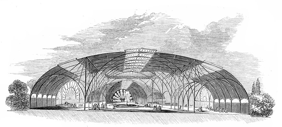 Messrs. R. and T. Turner's Design. Transverse Section, and View of the Interior.