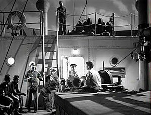 The Ghost Ship - A scene from The Ghost Ship, with a calypso performance