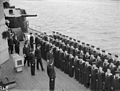 The King Pays 4-day Visit To the Home Fleet. 18 To 21 March 1943, at Scapa Flow, the King, Wearing the Uniform of An Admiral of the Fleet, Paid a 4-day Visit To the Home Fleet. A15122.jpg