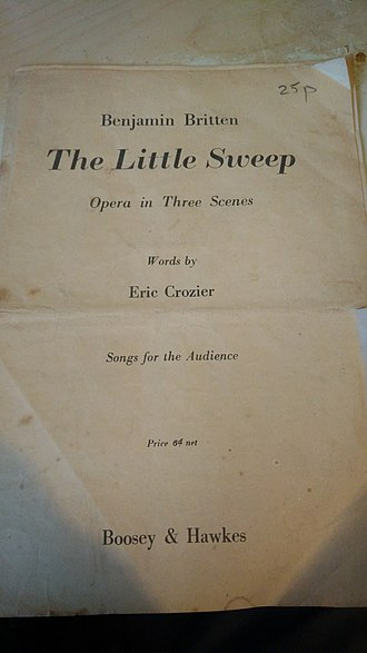 """The Little Sweep - """"Songs for the audience"""" booklet, handed to the audience in the original production."""