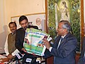 The Minister of State for Information & Broadcasting and External Affairs, Shri Anand Sharma releasing a poster of Bharat Nirman Public Information Campaign, in Jaipur, Rajasthan on January 27, 2009.jpg