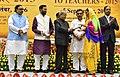 The President, Shri Pranab Mukherjee presenting the National Award for Teachers-2015 to Smt. Rajwinder Kaur (Punjab), on the occasion of the 'Teachers Day', in New Delhi.jpg