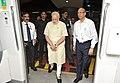 The Prime Minister, Shri Narendra Modi boards Delhi Metro train at Janpath, while going to Faridabad, for inauguration of Badarpur-Faridabad Metro Line on September 06, 2015.jpg