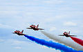 The Red Arrows, Farnborough Airshow 2012 (7578373566).jpg