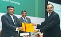 """The Union Minister for Communications & Information Technology, Shri Ravi Shankar Prasad presented the fund certificate to the investor, at the launch of the """"Electronic Development Fund"""", in Mumbai on February 15, 2016.jpg"""