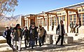The Union Minister for Tourism & Housing and Urban Poverty Alleviation, Kum. Selja inspecting the dwelling units being constructed by Hindustan Prefab Limited and HUDCO for flood affected people, during her visit to Leh,.jpg