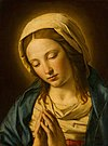 The Virgin in Prayer after Sassoferrato Mauritshuis 336.jpg