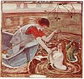 The good ferryman captures the mermaid. Illustration by Cecile Walton, 1920..jpg