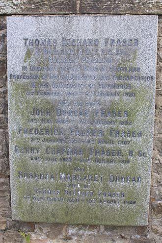 Thomas Richard Fraser - The grave of Thomas Richard Fraser, Dean Cemetery