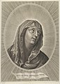 The head of the Virgin looking up to the right, in an oval frame, after Reni MET DP841781.jpg