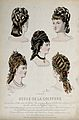 The heads of five women with their hair combed back and dres Wellcome V0019888EL.jpg