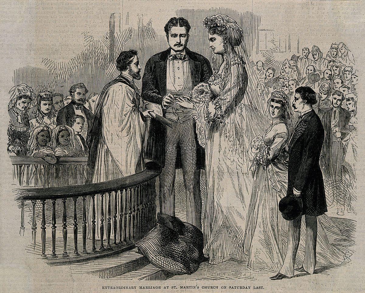 The marriage of Captain Martin van Buren to Anna Swan. Wood Wellcome V0007376.jpg