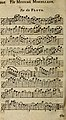 The musical miscellany - being a collection of choice songs, set to the violin and flute, by the most eminent masters (1729) (14580168359).jpg