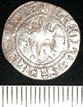 The obverse of a imitation Edwardian coin, minted by Robert of Bethune at Alost between AD 1305-22. (FindID 106190).jpg