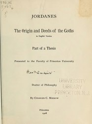 The origin and deeds of the Goths in English version