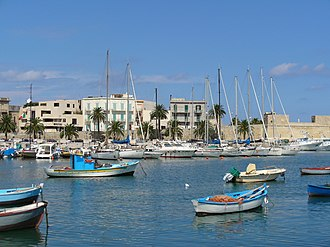 Bari - A view of the old port of Bari