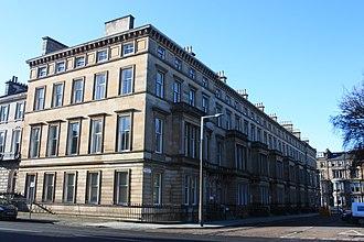 Charles Kinnear - The west side of Drumsheugh Gardens, Edinburgh