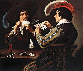 Card game - The Card Players, 17th-century painting by Theodoor Rombouts