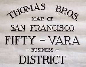 Spanish customary units - Image: Thomas Bros. logo on San Francisco map