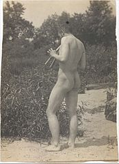 Thomas Eakins, Nude, Playing Pipes c.1883.jpg