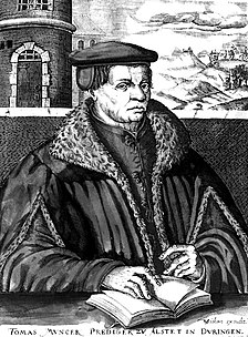 Thomas Müntzer early Reformation-era German pastor who was a rebel leader during the German Peasants War
