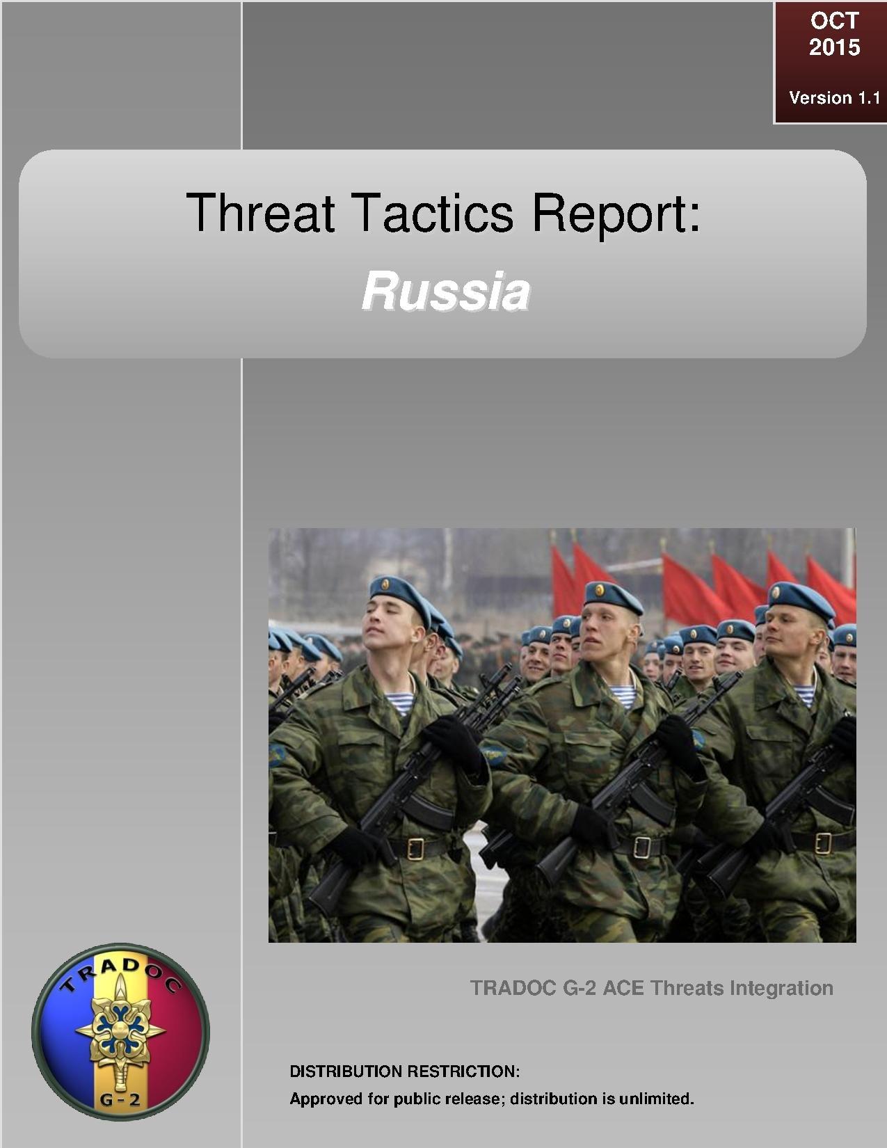 File:Threat Tactics Report - Russia (October 2015), U S  Army TRADOC