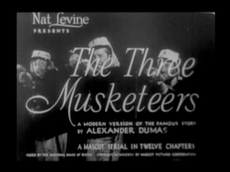 The Three Musketeers (1933 serial) - The Three Musketeers title sequence screenshot