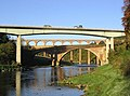 Three bridges over the River Tweed at Leaderfoot - geograph.org.uk - 586944.jpg