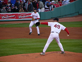 Tim Wakefield - Wakefield throwing a knuckleball in a 2006 game