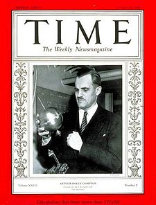 Arthur Holly Compton pe coperta revistei Time