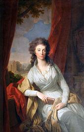 Herzogin Louise von Sachsen-Weimar und Eisenach, geborene Prinzessin von Hessen-Darmstadt (von Tischbein (1795)) (Quelle: Wikimedia)