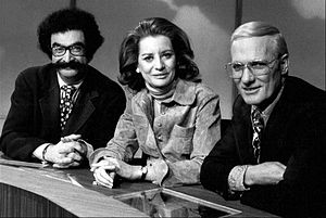 Barbara Walters - Gene Shalit, Barbara Walters, and Frank McGee in The Today Show, 1973.