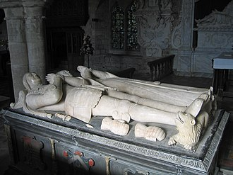St Cuthbert's Church, Holme Lacy - Tomb with effigies of John and Sibell Scudamore