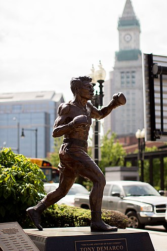 Tony DeMarco - A statue for Tony DeMarco in Boston's historic North End
