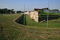Torgau Fort Zinna Graben und Pulvermagazin in Bastion 4.JPG