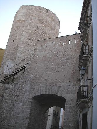 Segorbe - Cárcel Tower and Teruel Gate.