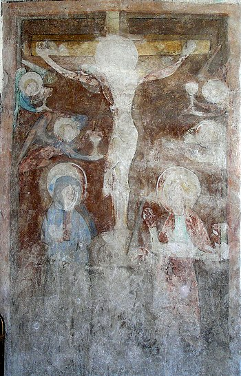 English: Toruń, St. Mary's church, mural paint...
