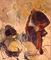 Toulouse-Lautrec - ARTILLEUR ET FEMME, 1886, MTL.119.jpg