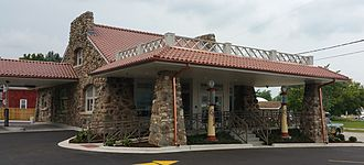 """Frederick Townsend Garage - Originally built to house """"benzine vehicles"""", the Townsend Garage is now a community bank."""
