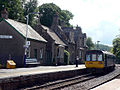 Train at Eggesford Station - geograph.org.uk - 832514.jpg