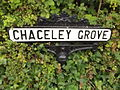 Tramway Street, Crich Tramway Village - National Tramway Museum - Crich - road sign - Chaceley Grove (15373570815).jpg