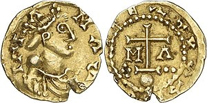 Childebert the Adopted - Coin of Childebert
