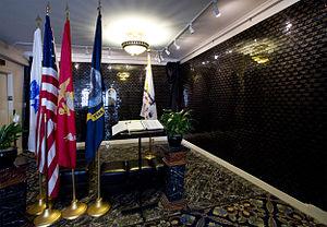 Marines' Memorial Club - The Tribute Memorial Wall.