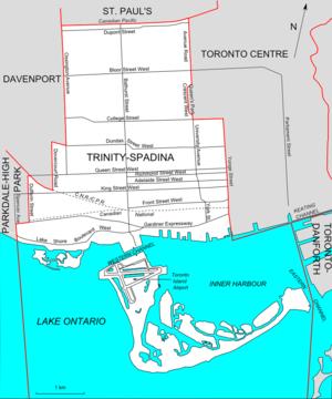 Trinity—Spadina - Map of Trinity-Spadina