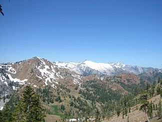 Trinity Alps bei Granite Lake im Juli 2005